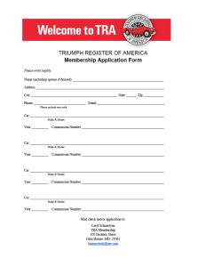 TRA Membership Form-2017